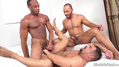 Trilogy gay porn with black males on fire