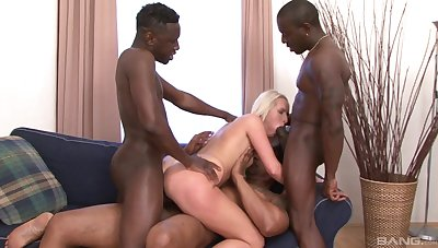 Horny mart wife takes black cocks in both their way bore and pussy