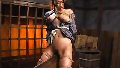 Hairy asian plays with her queasy pussy