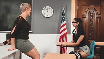 Horny lesbian MILF professor has a choice way of life in mind