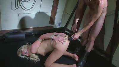 Trained blonde bimbo.Humiliated, mouth and ass fucked.