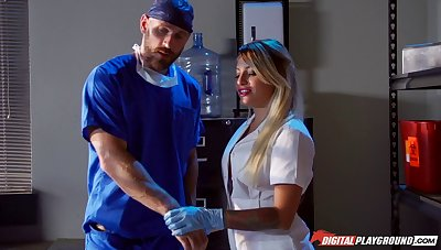 The doctor concerning a large cock penetrated deep anent Kissa Sins