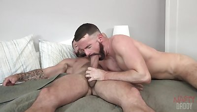 Gay hunks share their lust for anal in a crazy XXX home play