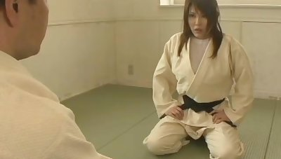female judo teacher