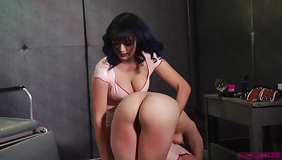 Someone needs a good spanking and that mistress got some chunky ass breast