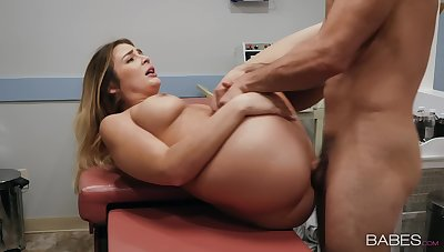 Aroused MILF gets laid less her physician after he teases her a lot
