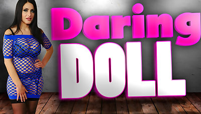 Alex Black in Daring Doll with Enormous Knockers Alex Black - StockingsVR