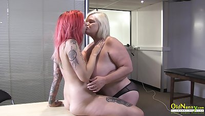 OldNannY British Mature added to Lesbian Striptease