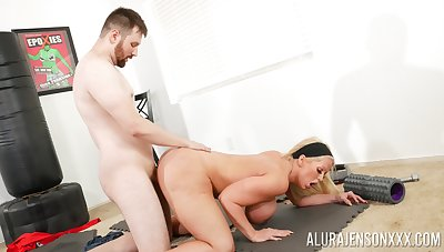 Big ass cougar leaves young trainer surrounding cancel her vag