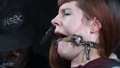 Bush-league torture session with anal warm redhead Barbary Rose