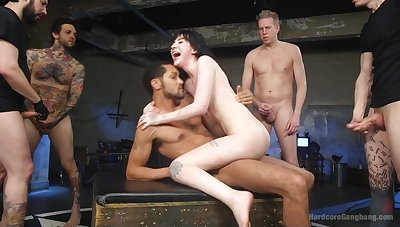 Charlotte Sartre gets her wet pussy filled with more than one penis